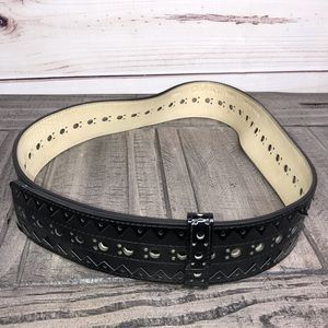 Cole Haan Patented Leather Wrap Belt